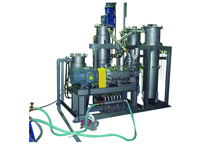 Dry screw pump system